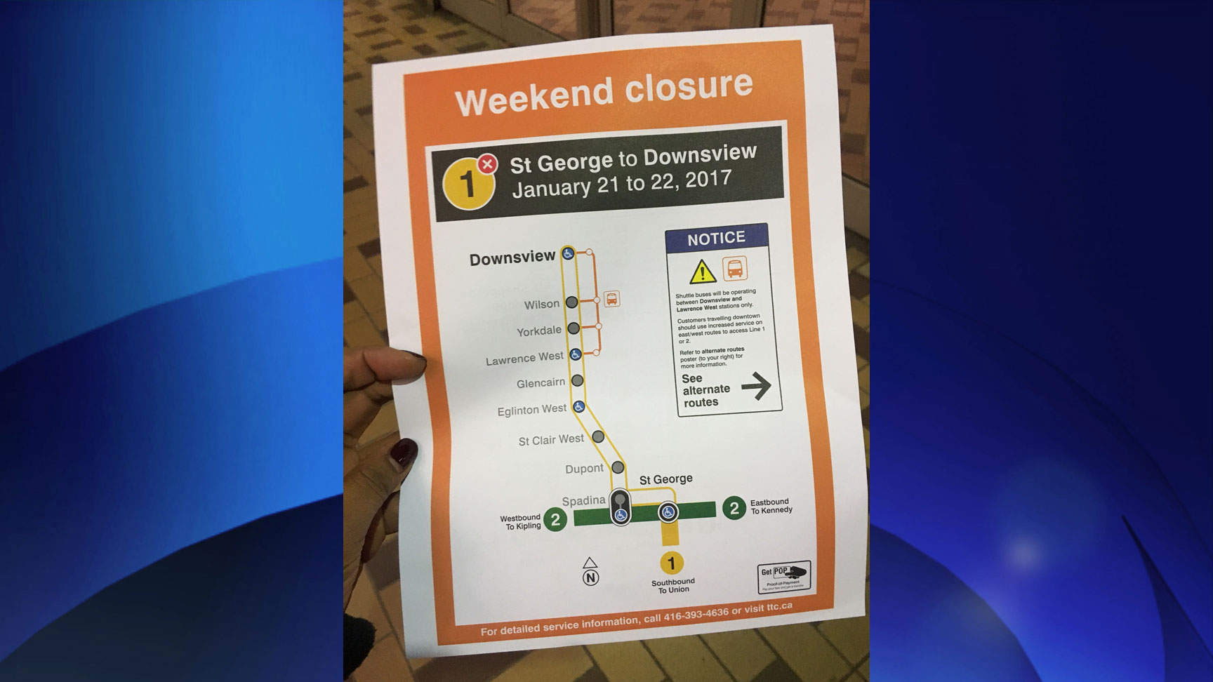A portion of Line 1 (Yonge-University-Spadina) will be closed on Jan. 21-22 due to signal upgrades. CITYNEWS/Ginella Massa