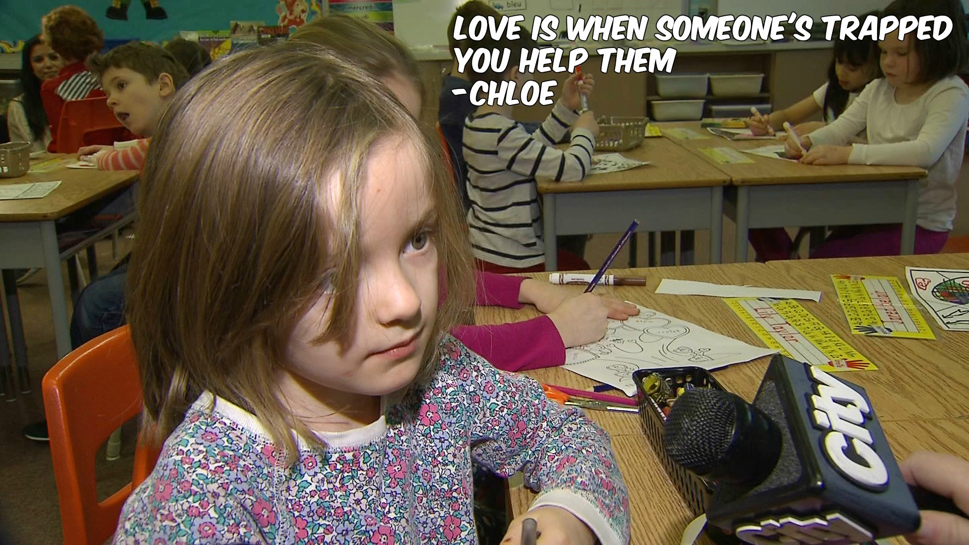 What is love? Chloe, a Grade 1 student, defines it for CityNews reporter Shauna Hunt on Feb. 2, 2017. CITYNEWS