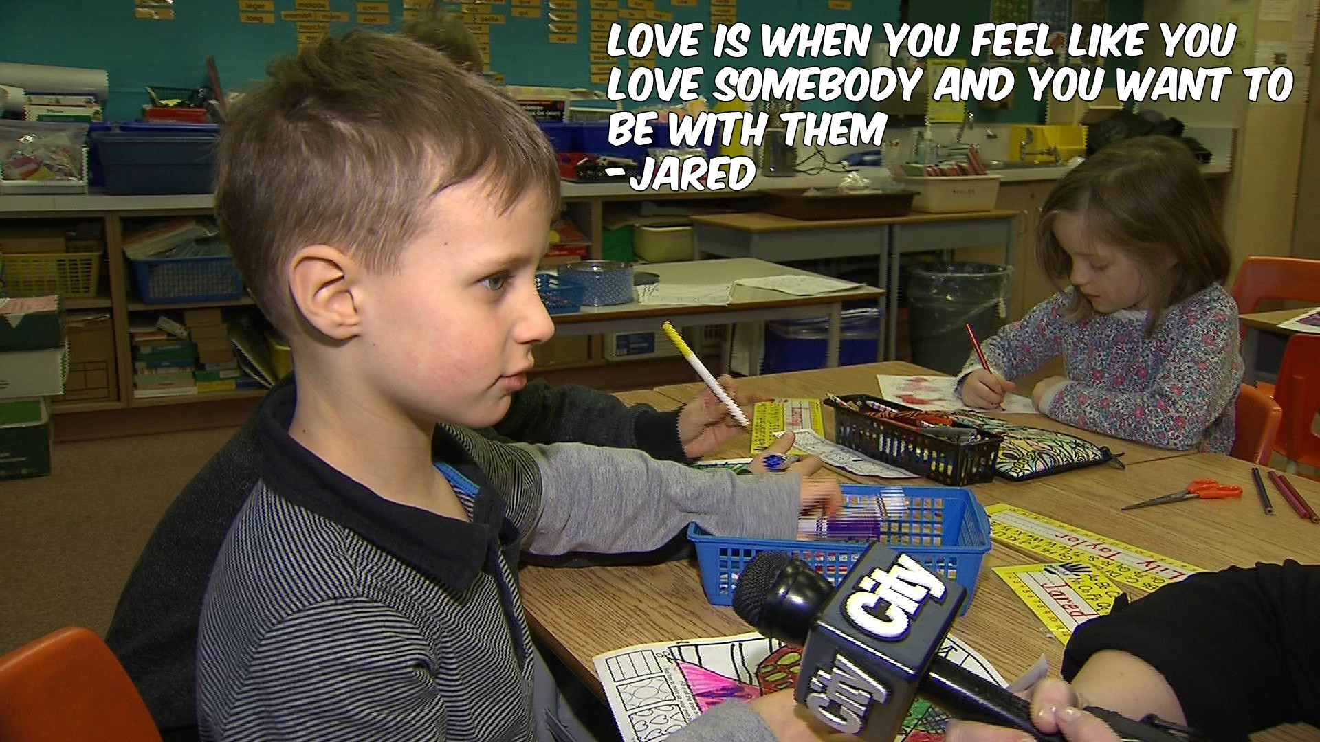 What is love? Jared, a Grade 1 student, defines it for CityNews reporter Shauna Hunt on Feb. 2, 2017. CITYNEWS