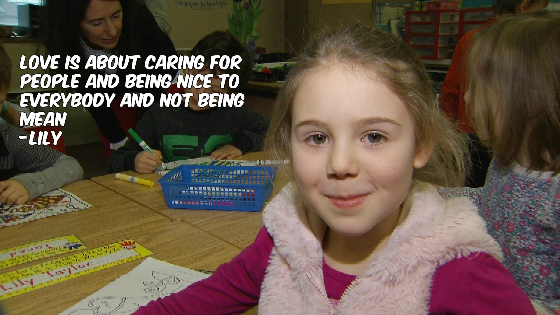 What is love? Lily, a Grade 1 student, defines it for CityNews reporter Shauna Hunt on Feb. 2, 2017. CITYNEWS