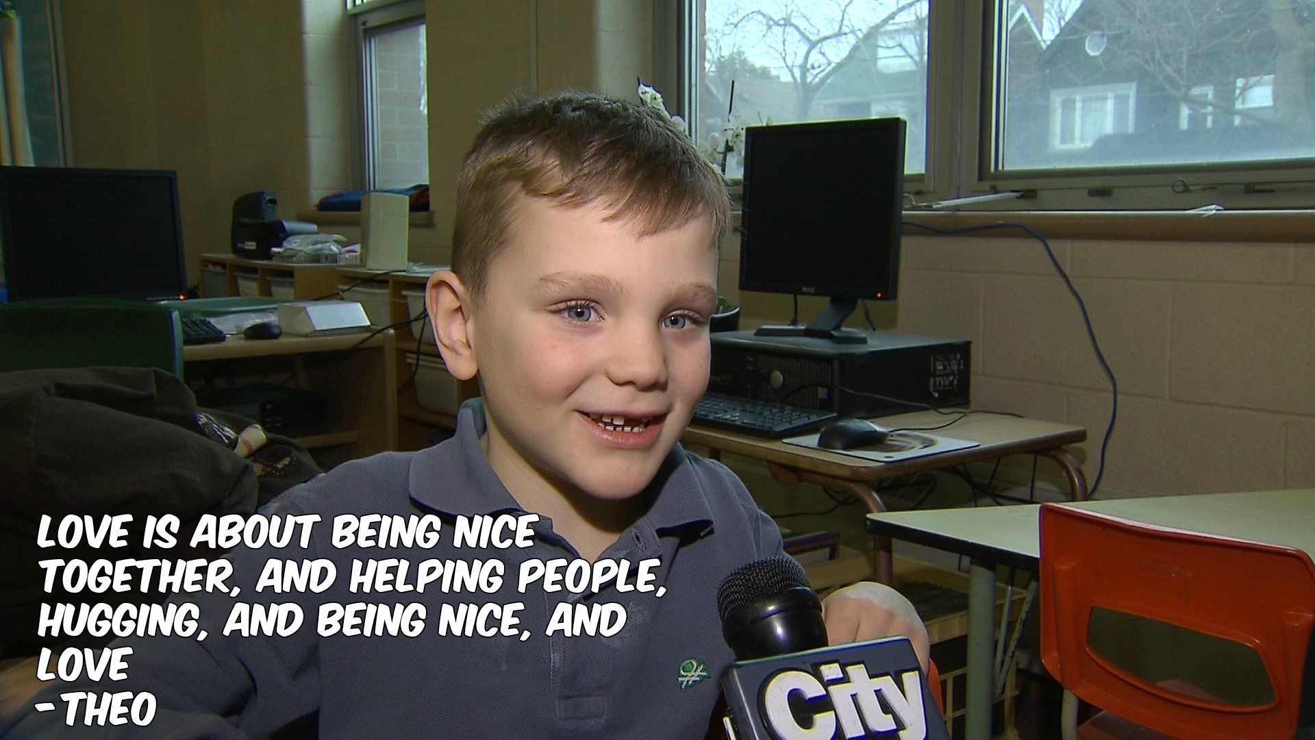 What is love? Theo, a Grade 1 student, defines it for CityNews reporter Shauna Hunt on Feb. 2, 2017. CITYNEWS