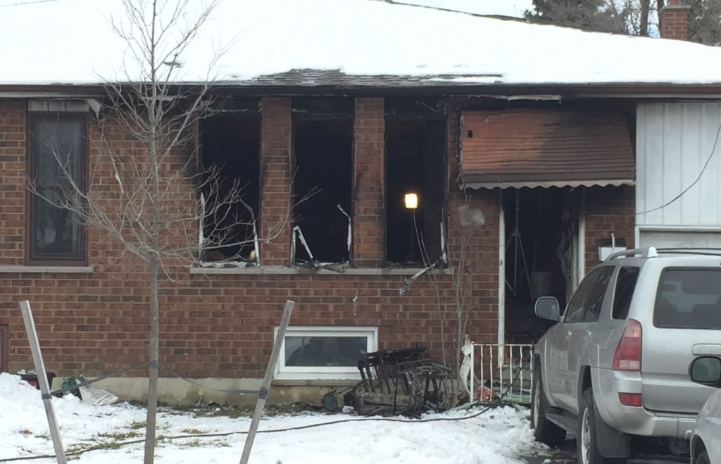 The fatal fire broke out at a home on Madison Street in Brampton on Feb. 14, 2017. CITYNEWS/Bert Dandy