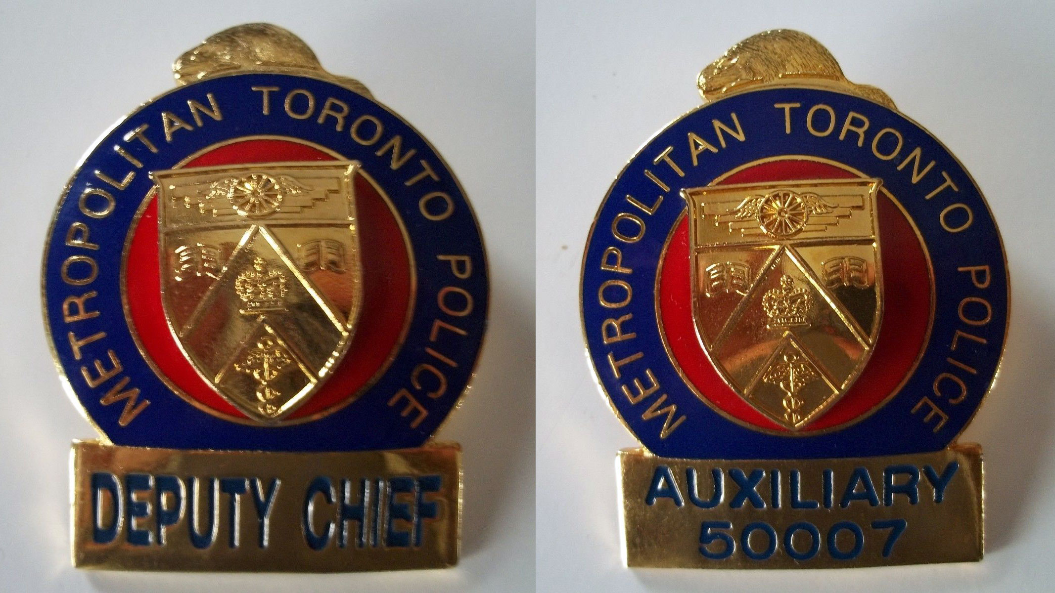 Metropolitan Toronto Police badges for sale on eBay. EBAY