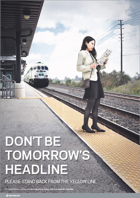 GO Transit Killer View Campaign poster