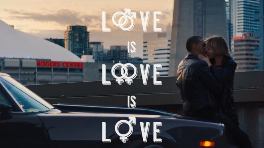 A still from a Toronto tourism video makes an argument that love is love is love. YOUTUBE
