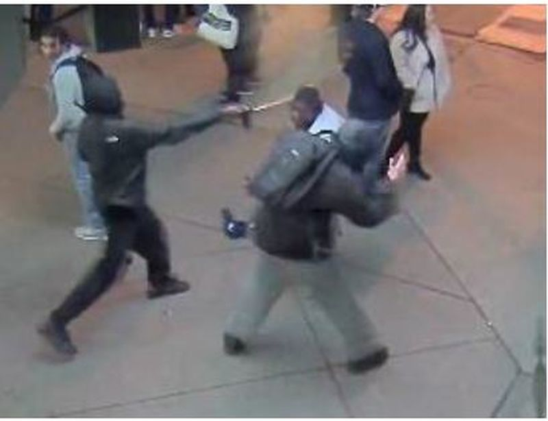 Two suspects wanted in pepper spray attack at Yonge and Dundas last month (Toronto Police Service / Handout)