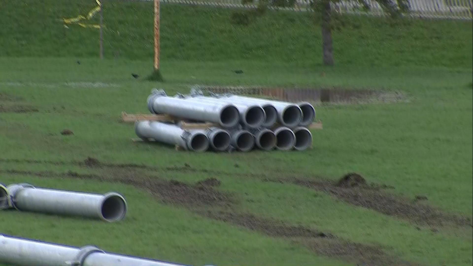 Yard closed school open after sewage leak in ajax citynews for Yard flooding problems