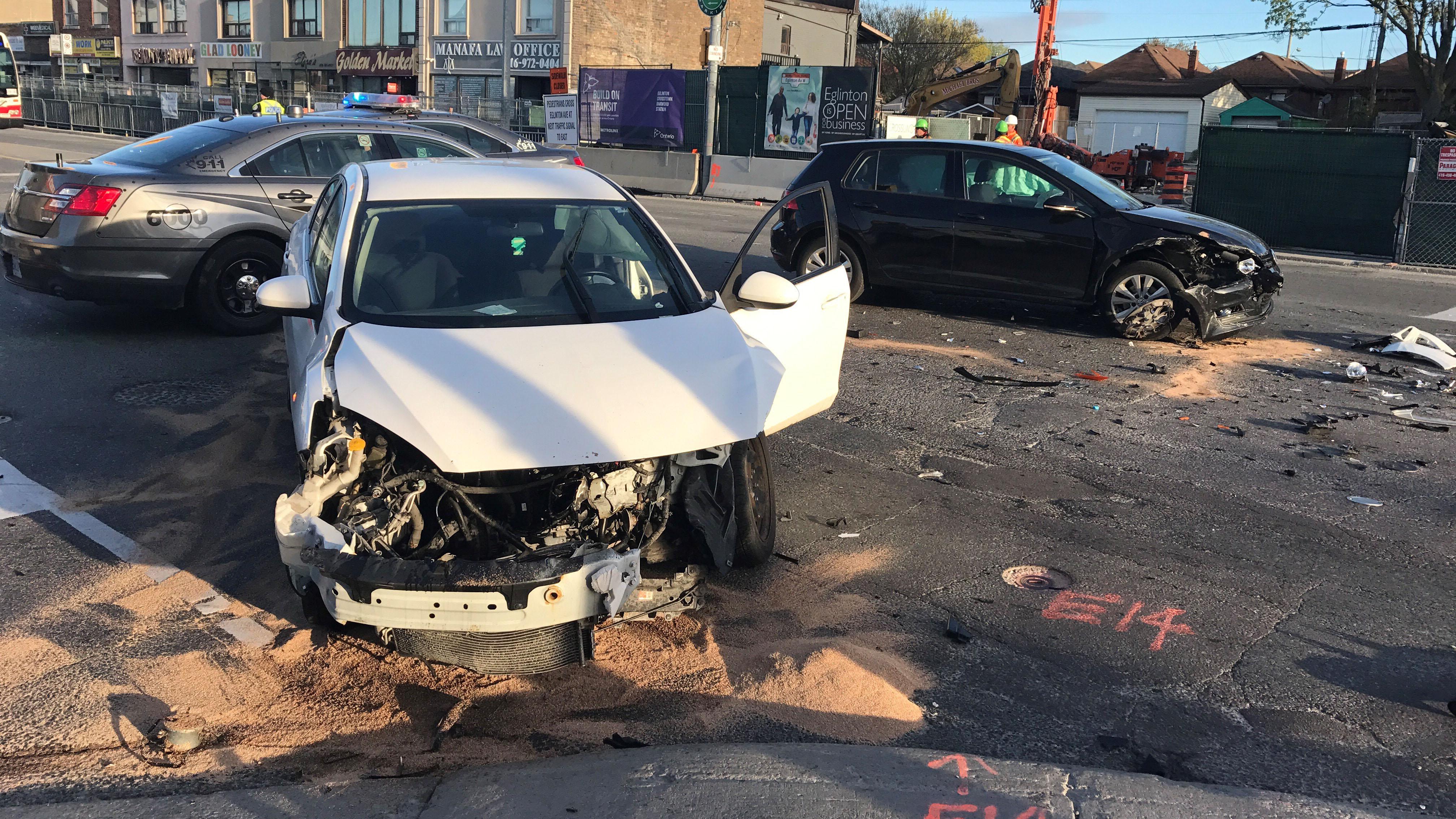 1 in hospital after Oakwood and Eglinton crash