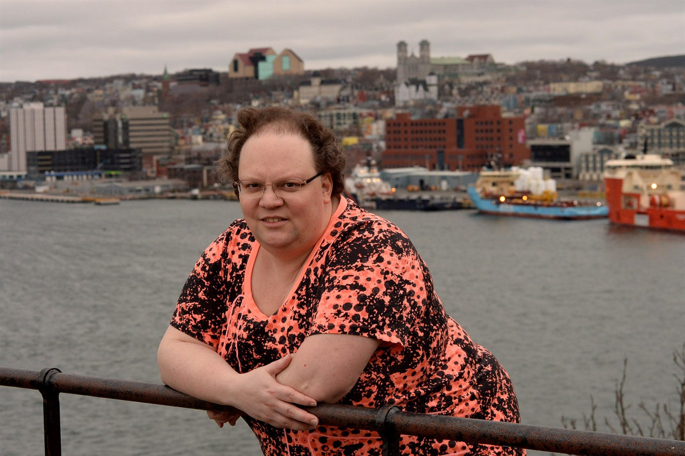 Jennifer McCreath poses in St.John's on Wednesday, May 17, 2017. McCreath, a 43-year-old transgender person, wants to change a long-standing regulation that ...