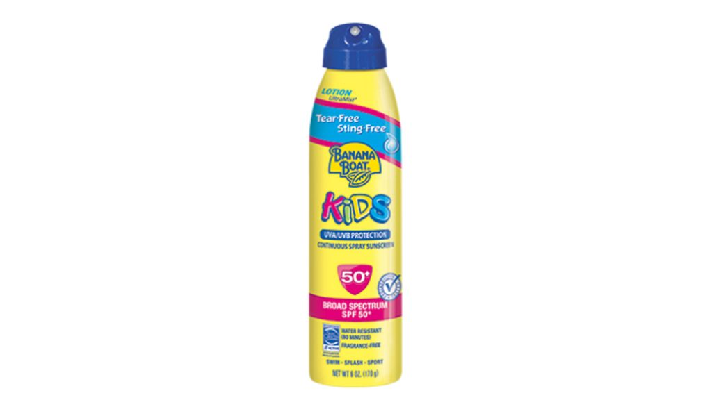 Banana Boat Kids tear-free sting-free continuous lotion spray sunscreen with SPF 50+