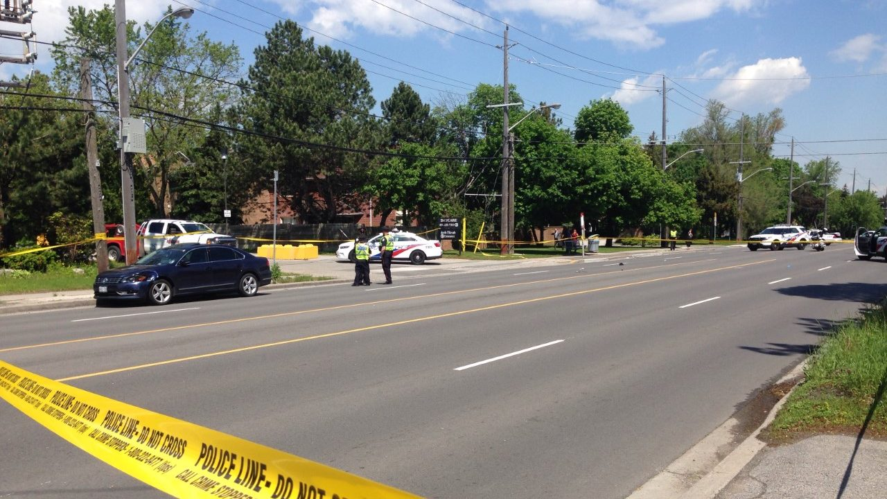 Two pedestrians in critical conditon after being struck by motorist