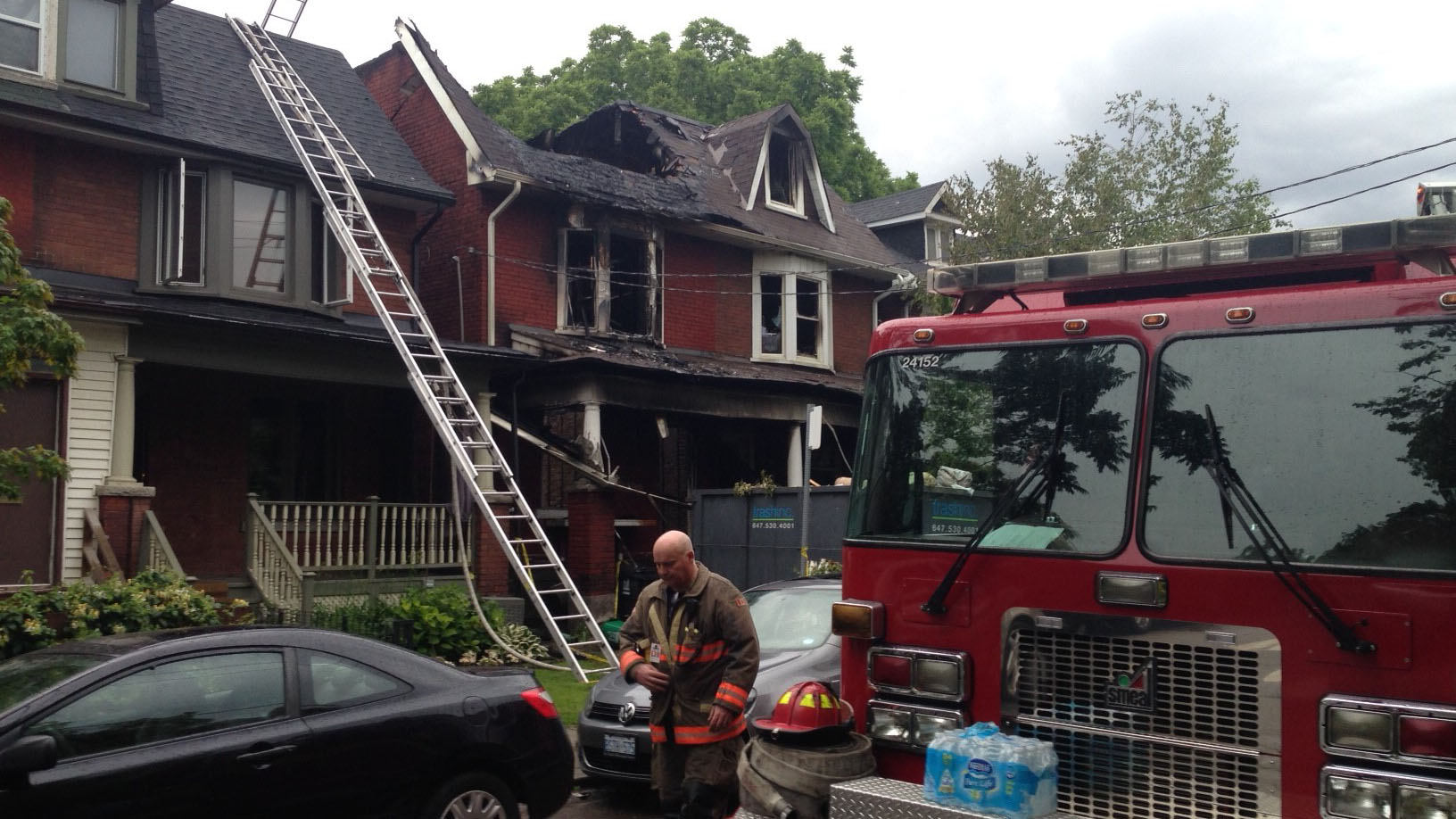 A fire broke out in a home that was under renovation on Booth Avenue on June 27, 2017. CITYNEWS/Bertram Dandy