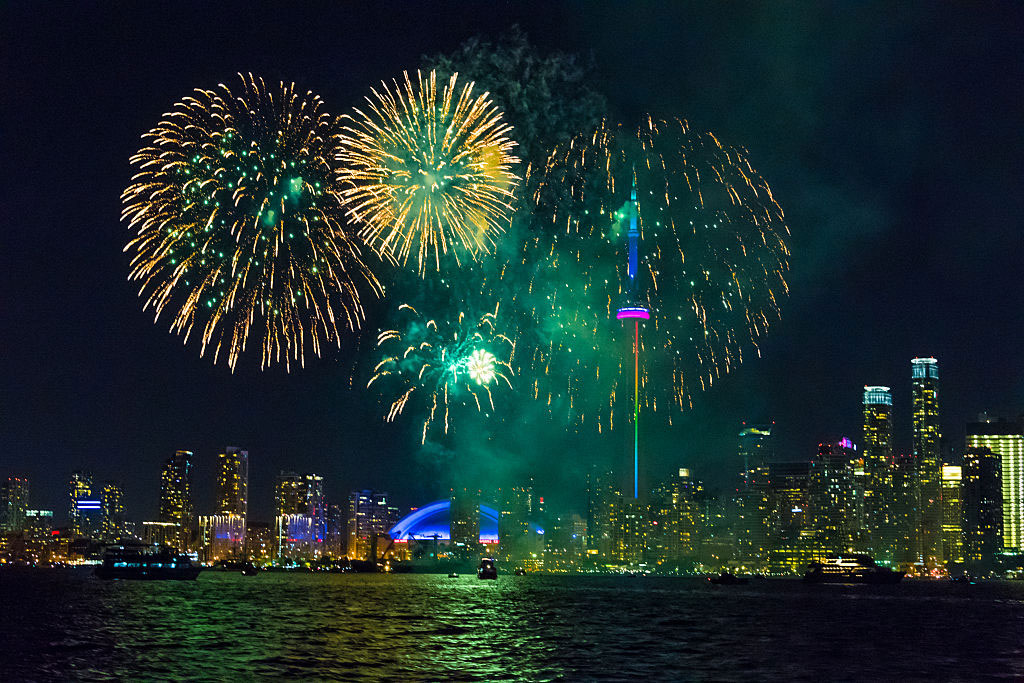 Canada Day fireworks in Toronto on July 1, 2016. GETTY IMAGES/LightRocket/Roberto Machado Noa