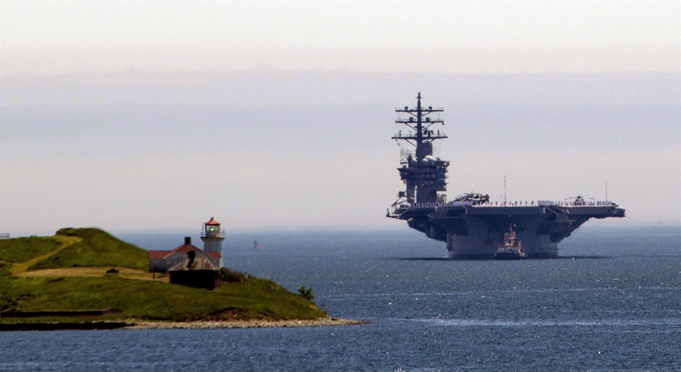 Massive U S Aircraft Carrier Visits Halifax This Is A