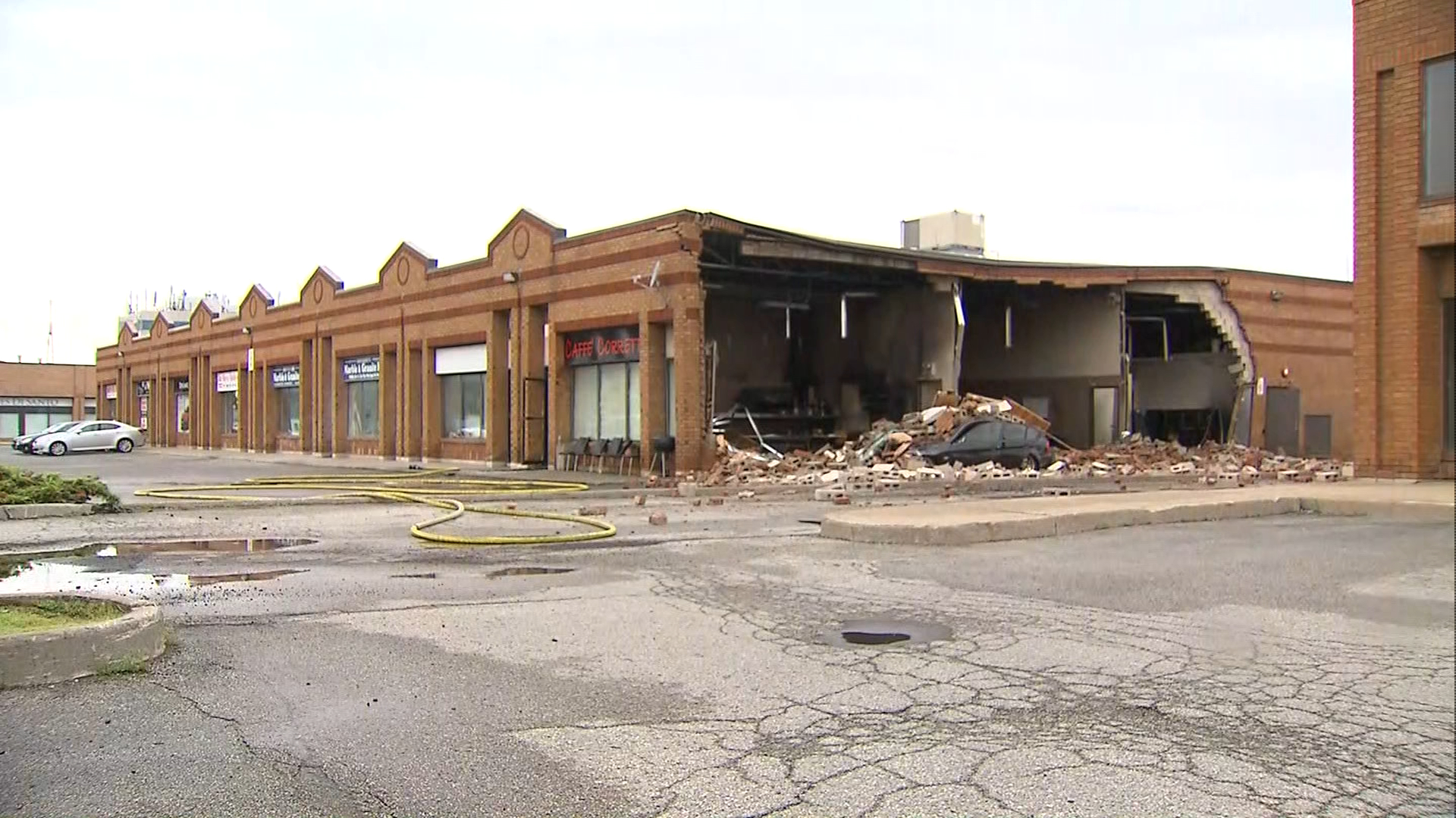 Woodbridge Cafe Partially Collapses After Explosion Man