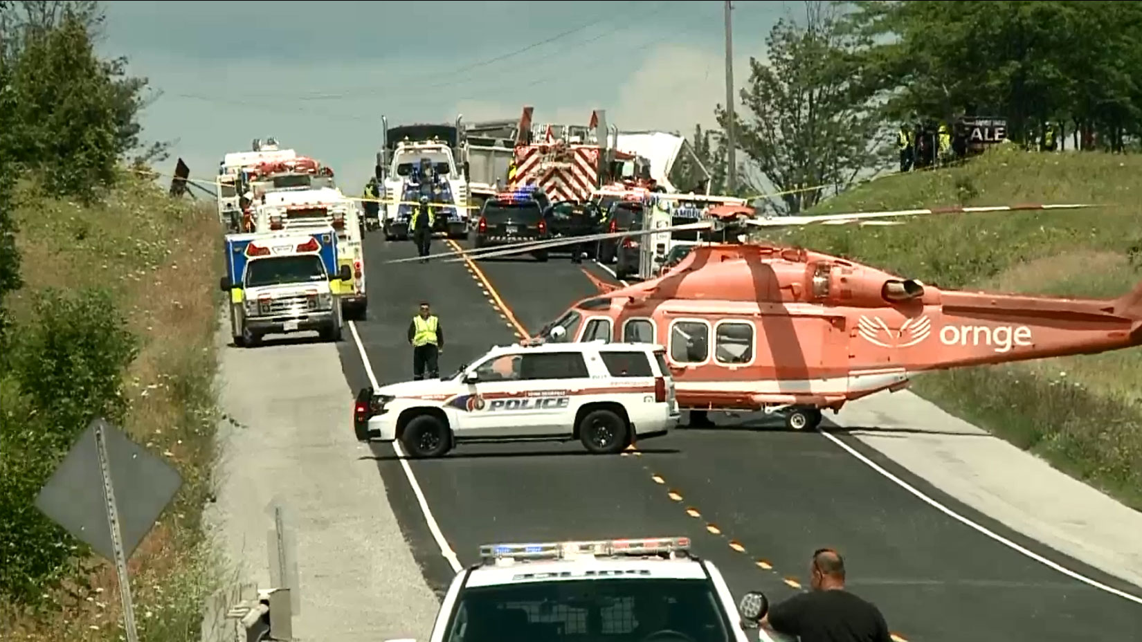 Fatal multi-vehicle collision closes Hwy. 48 in Sutton