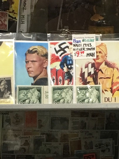 Some of the Nazi memorabilia items sold at the Roadshow Antiques South market in Pickering the weekend of Aug. 5-6, 2017. Photo credit: Friends of Simon Wiesenthal Center