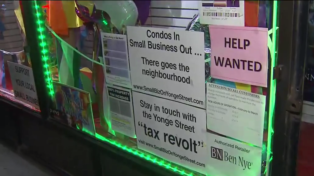 Yonge Street Store Owners Blame Increased Taxes For Business Closures Citynews Toronto