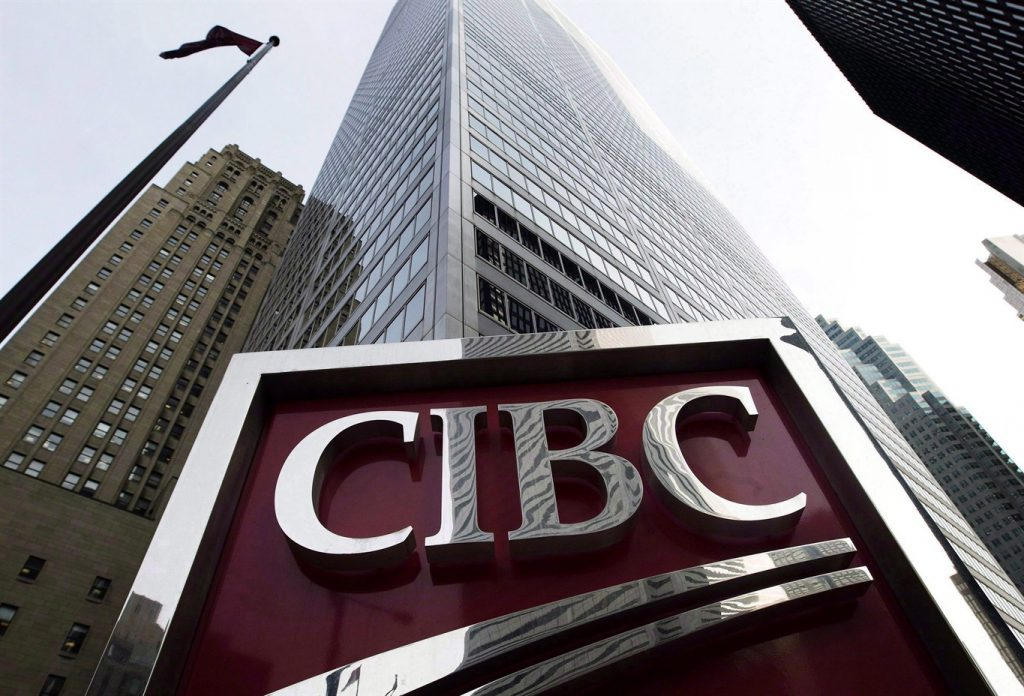 The CIBC sign in Toronto's financial district on Feb. 26 2009. THE CANADIAN PRESS  Nathan Denette