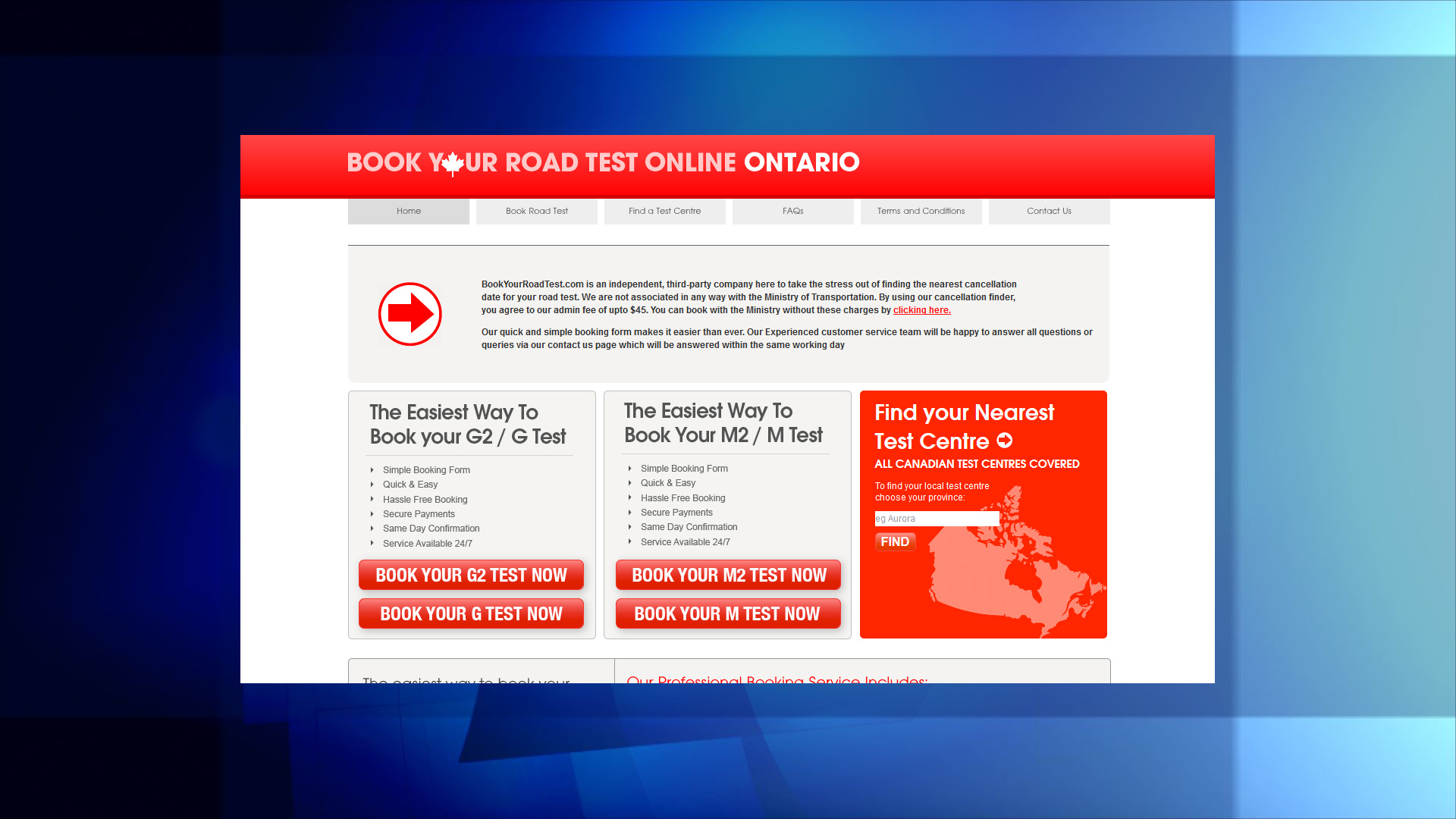 Police warn about fraudulent Ontario road test booking website ...