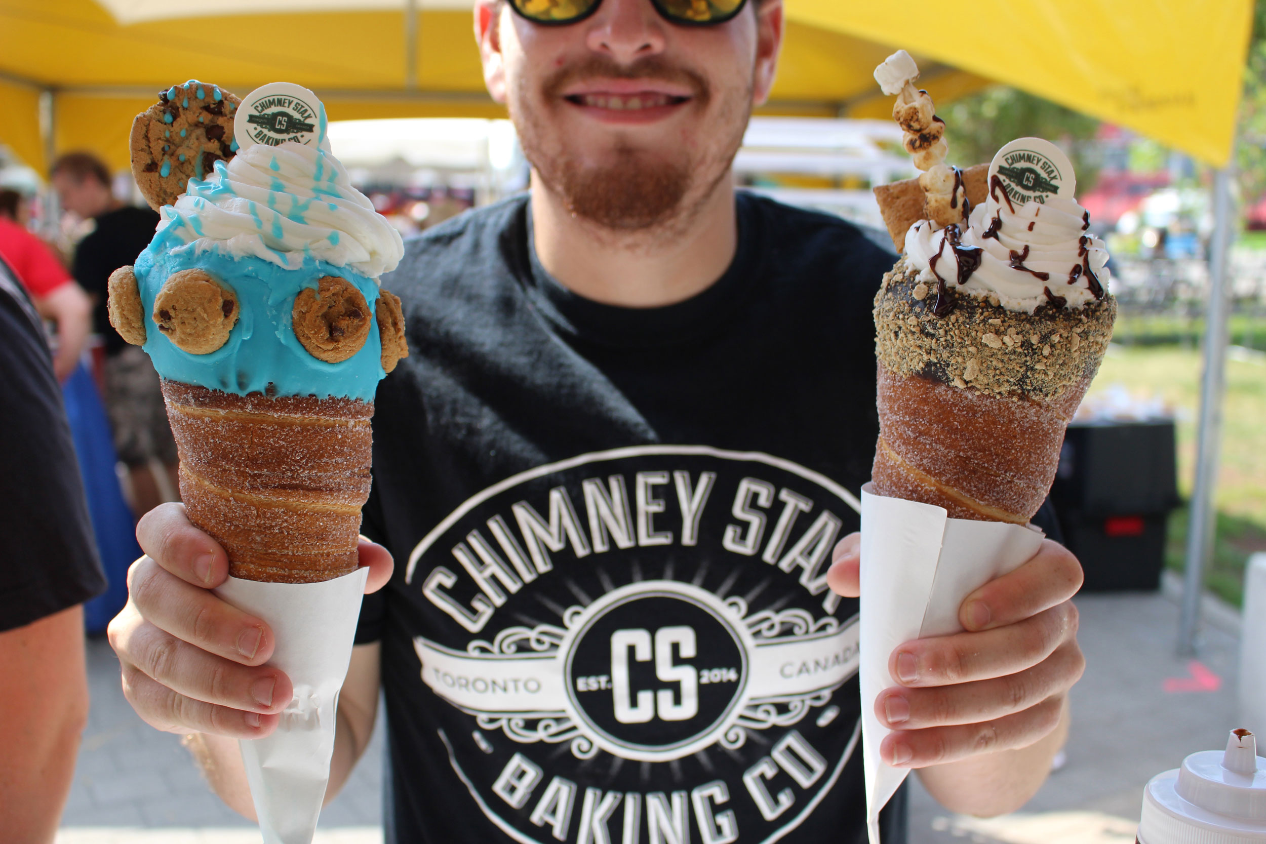 The food offerings at the Chimney Stax food truck at the CNE. Photo credit: CNE