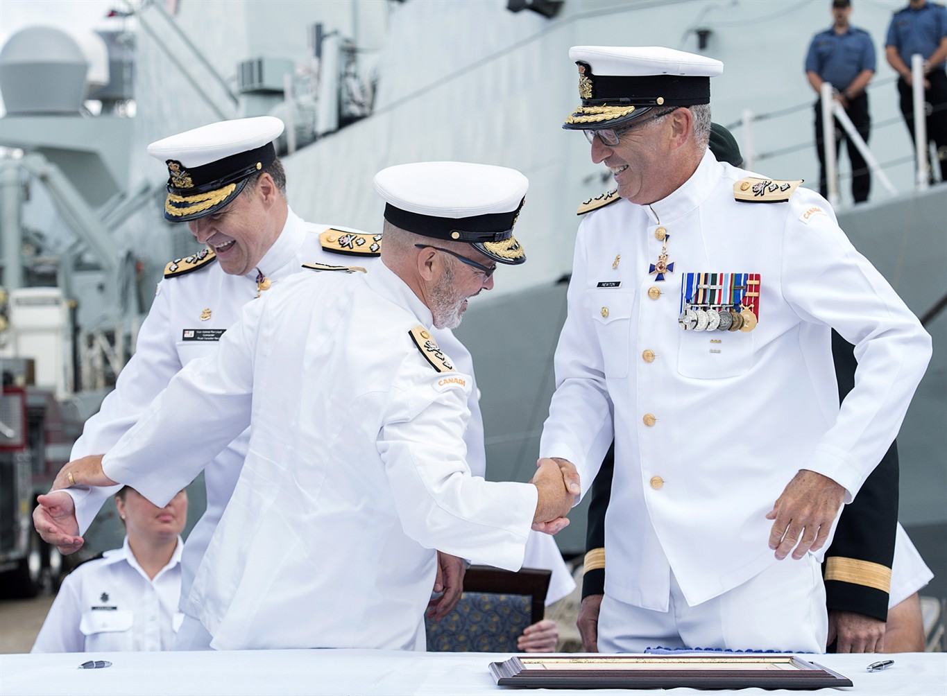 Royal Canadian Navy welcomes new commander of its East Coast