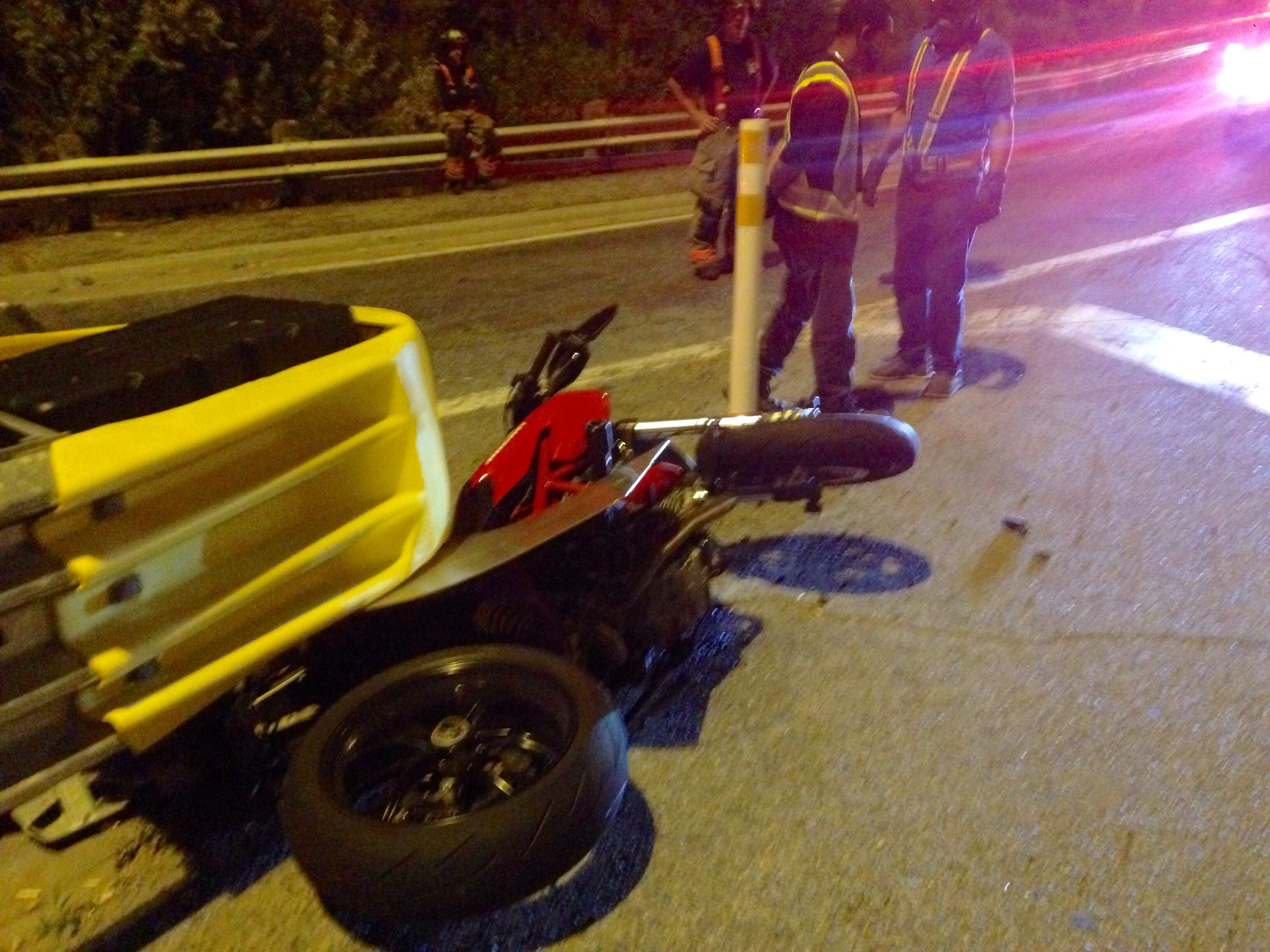 Two motorcyclists collided on the DVP on Sept. 14, 2017, sending three people to hospital.  CITYNEWS/George Joseph