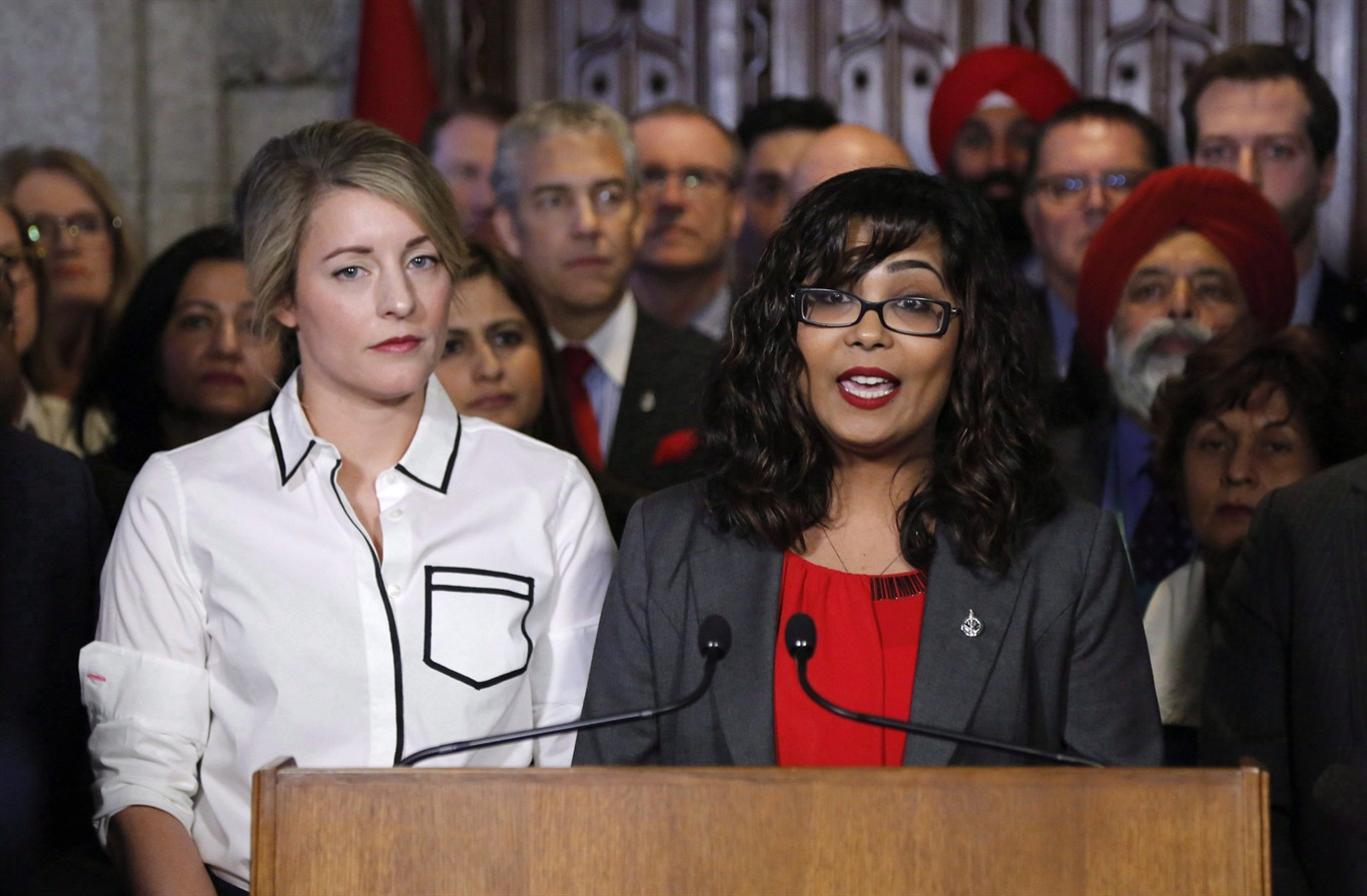 Iqra khalid urges fellow mps to take unified approach in liberal mp iqra khalid makes an announcement about an anti islamophobia motion on parliament hill while minister of canadian heritage melanie joly looks on ccuart Gallery