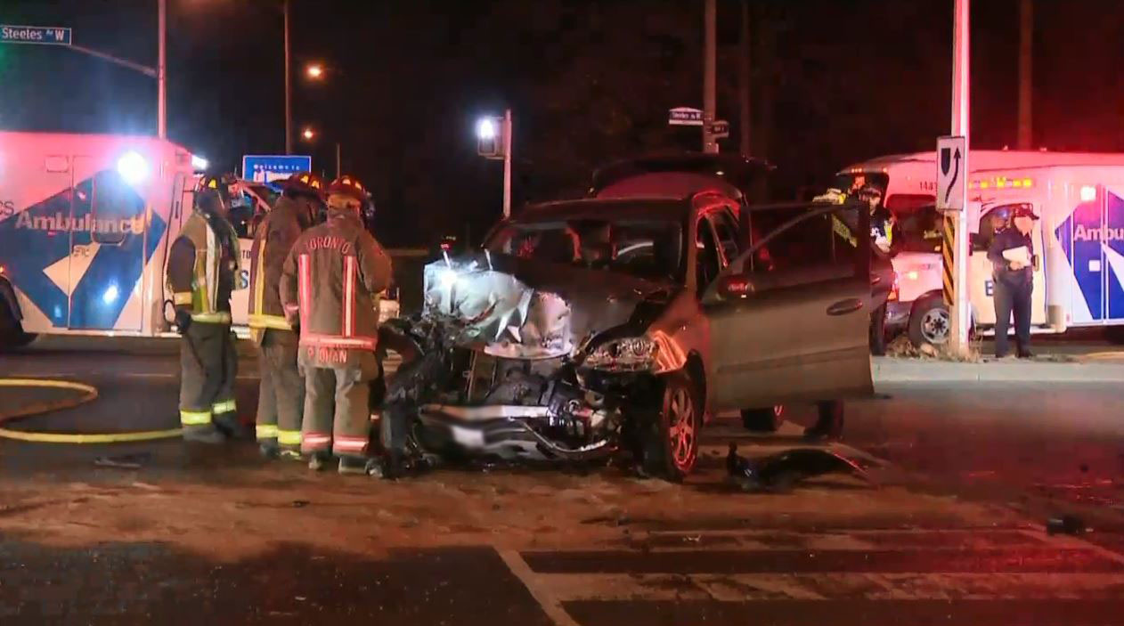 Woman killed in North York crash