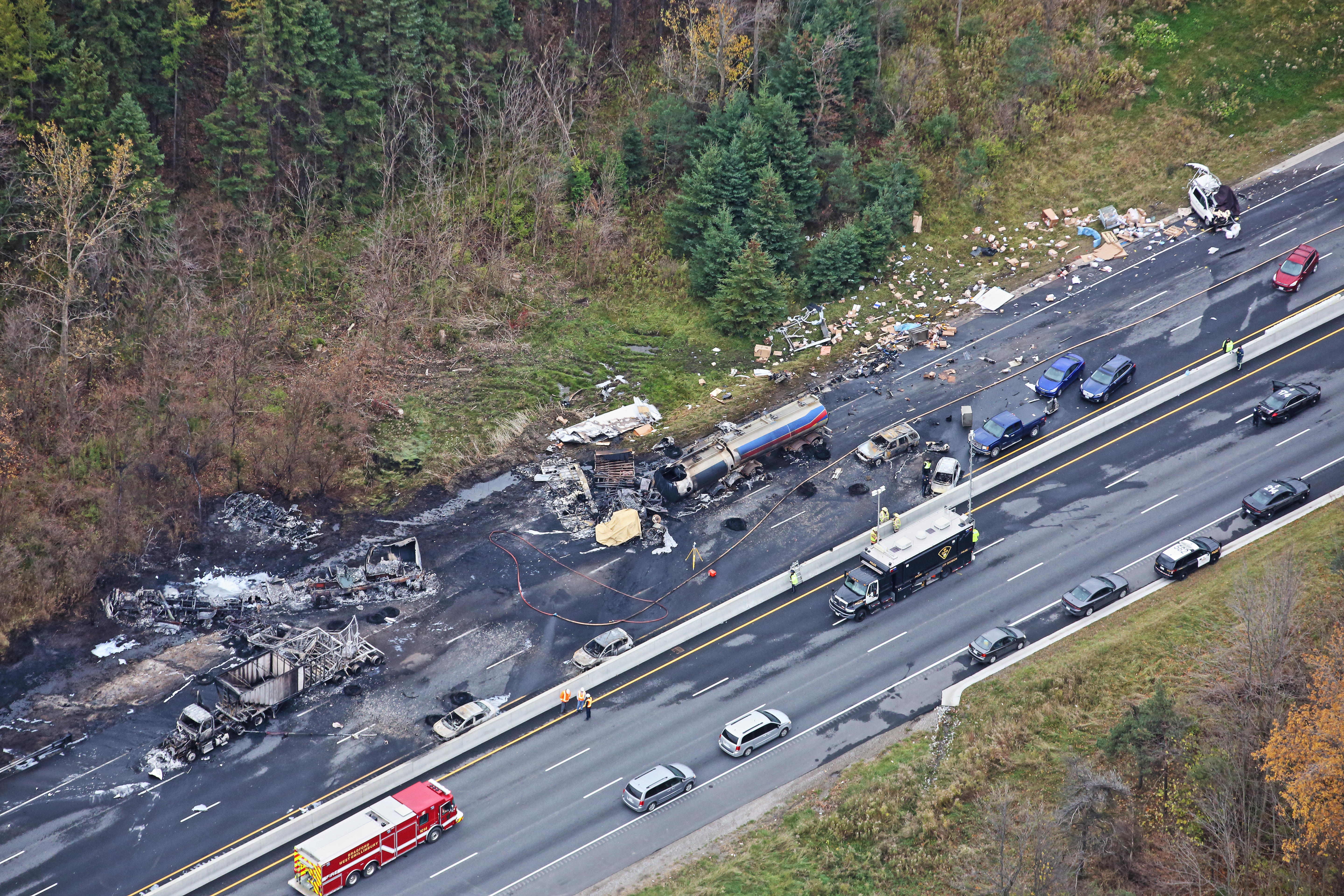 Transport truck safety called into question after Hwy  400 crash