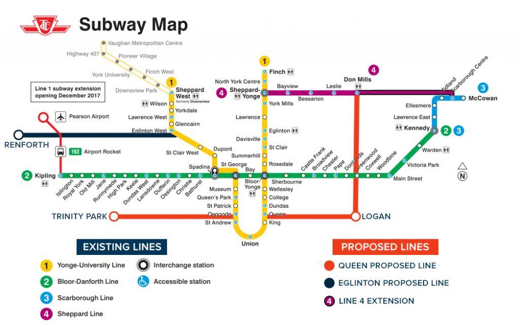Bloor Danforth Subway Map.Should Politicans Be Taken Out Of Transit Planning
