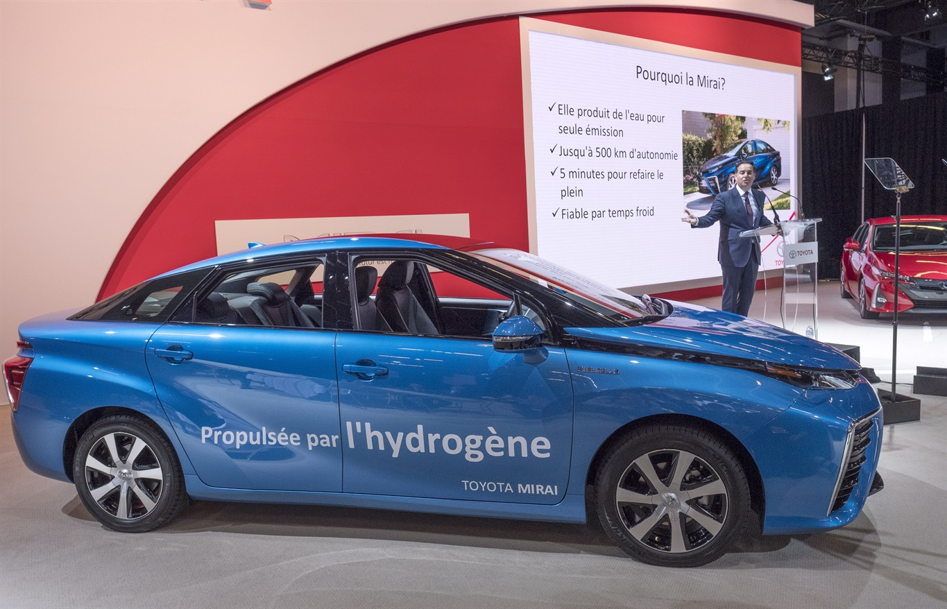 Toyota's hydrogen fuel cell will make its Canadian debut