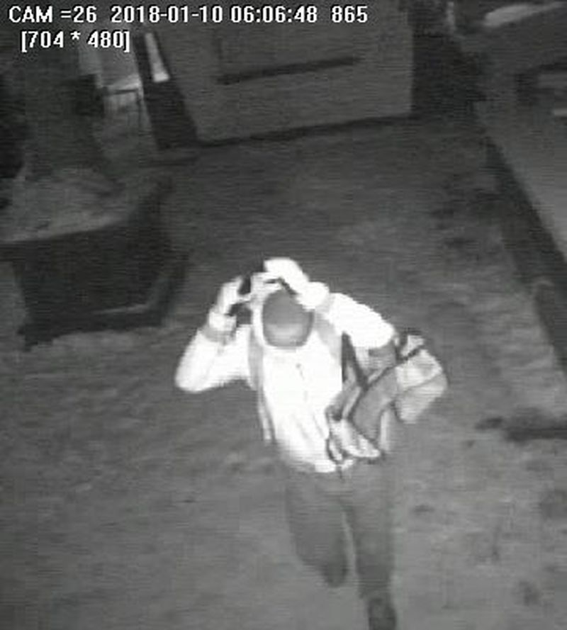 ecurity camera image of man involved in commercial break-and-enter investigation, Feb. 15, 2018. HANDOUT/Toronto Police Service