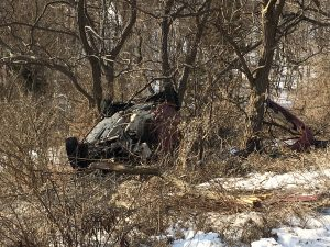 A crash car was found in Scarborough on Sunday morning.