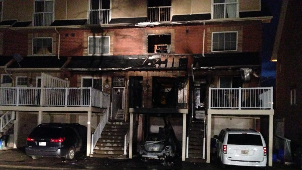 Pickering Townhouse Fire