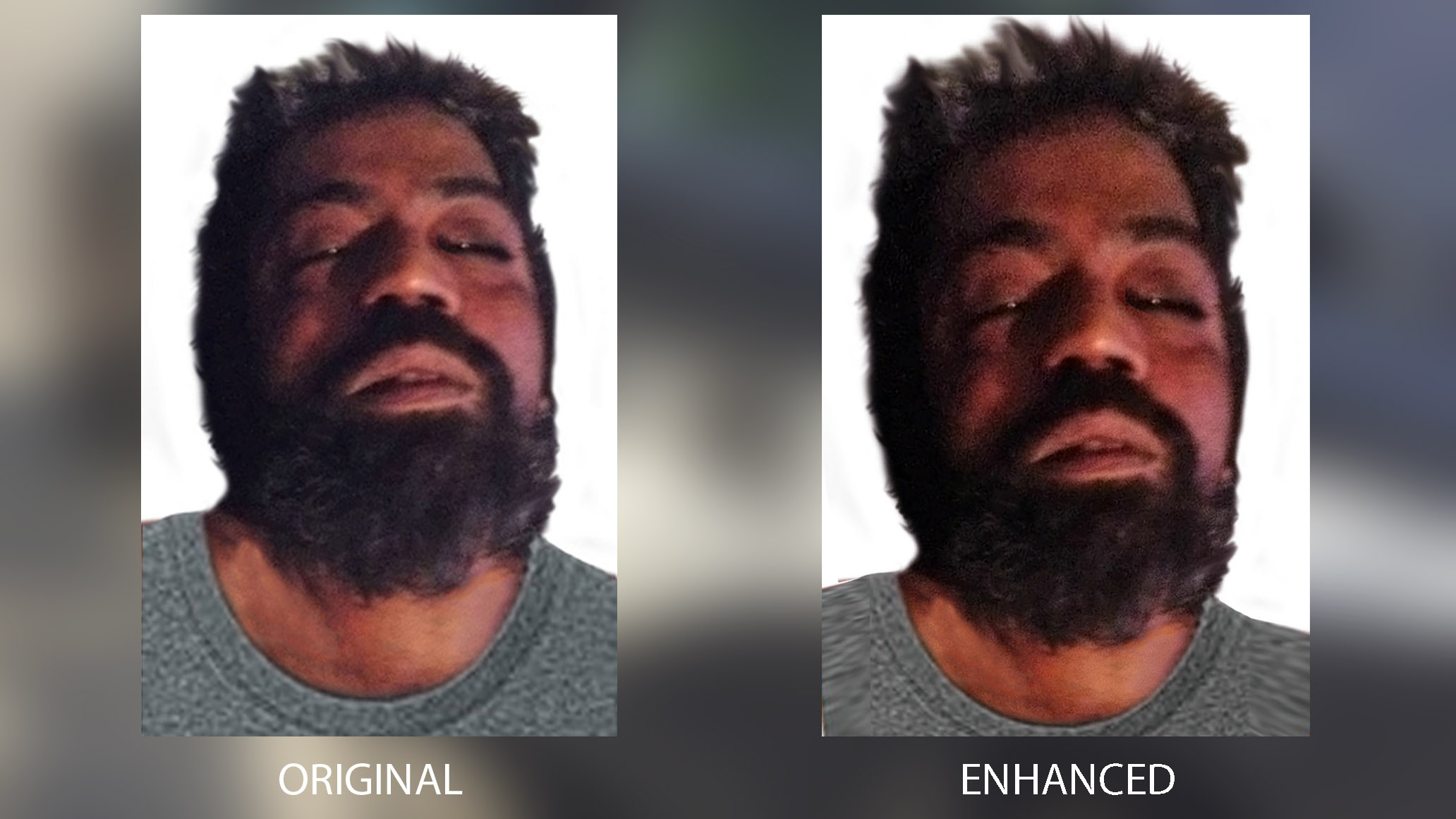 Police have released an enhanced photo of the alleged McArthur victim that was first made public on Monday.