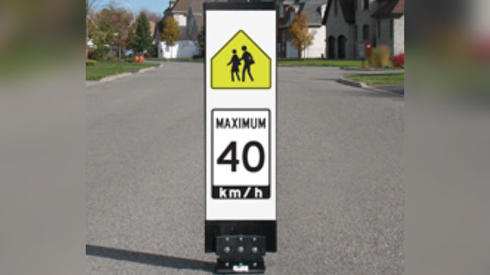 "An example of a ""traffic calming"" sign. HANDOUT/City of Toronto"