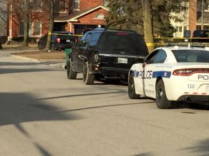 The unoccupied vehicle with stolen plates was located on Chickadee Crescent