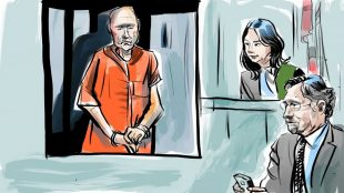 Bruce McArthur court sketch, April 11