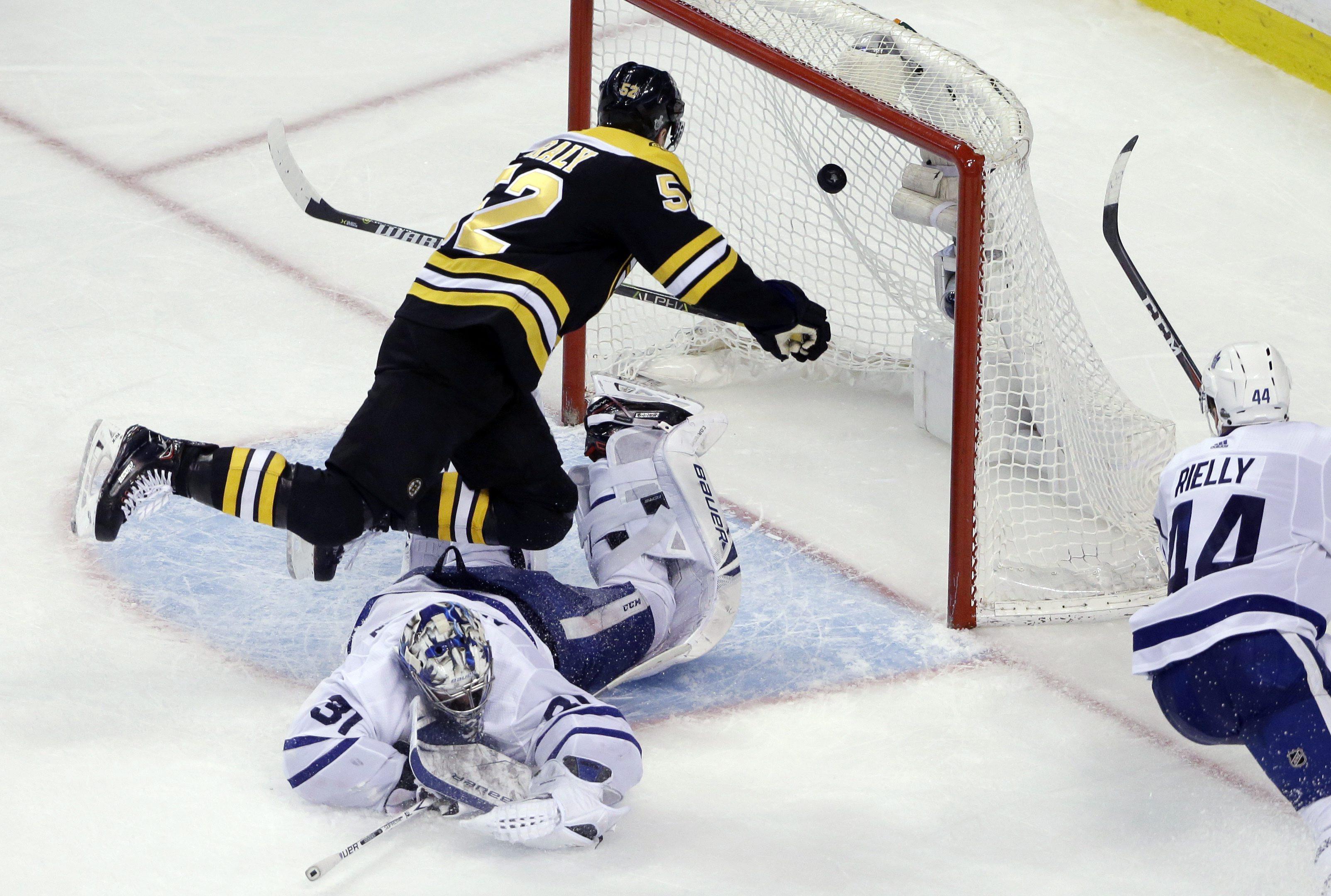 09adb7db2fd Boston Bruins bounce Toronto Maple Leafs in NHL playoff opener