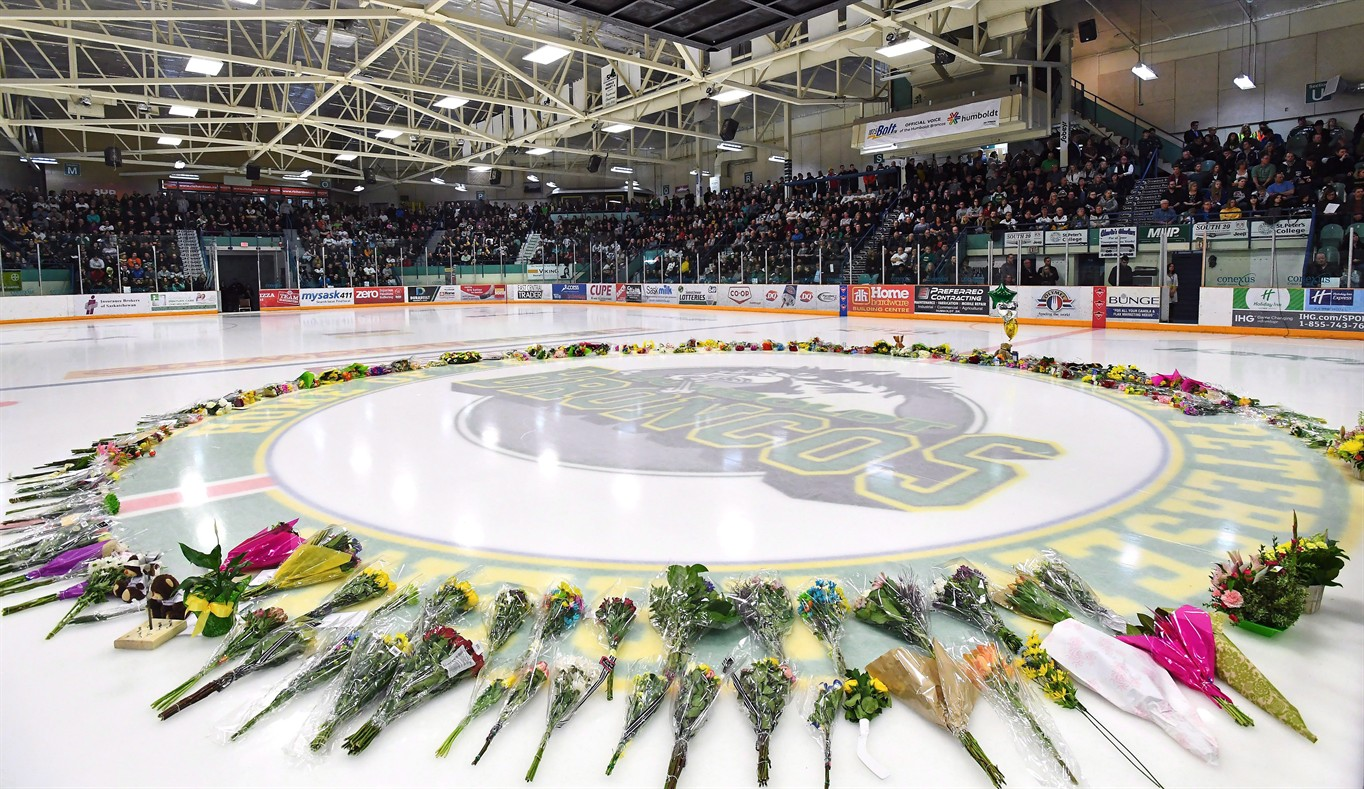 Bus driver charged in Canada hockey team crash with 16 dead