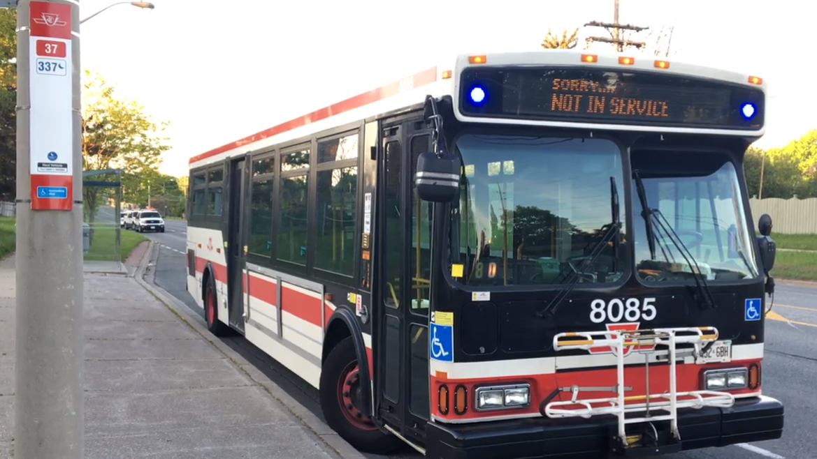 TTC passenger stabs bus driver with toothbrush near