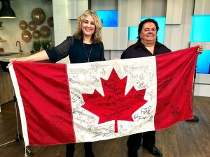 Image result for gord downie autographed flag