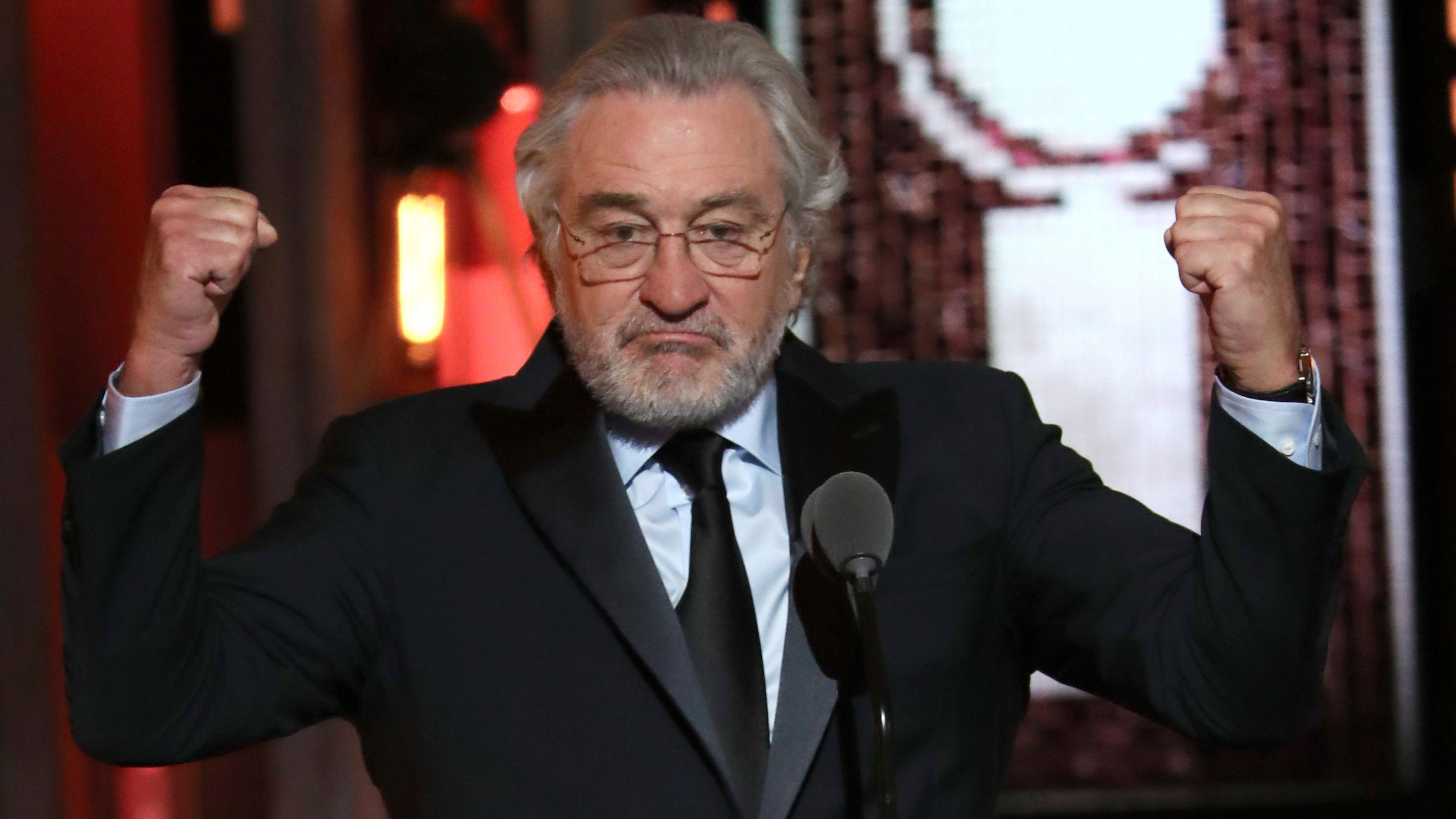 Robert De Niro says 'F--- Trump' onstage at Tonys, gets standing ovation