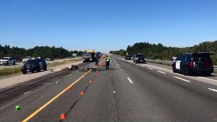 Motorcyclist killed in crash on Hwy  407 involving dump truck