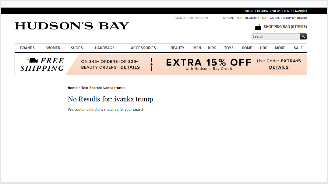 Ivanka Trump brand pulled from Hudson's Bay due to 'performance'