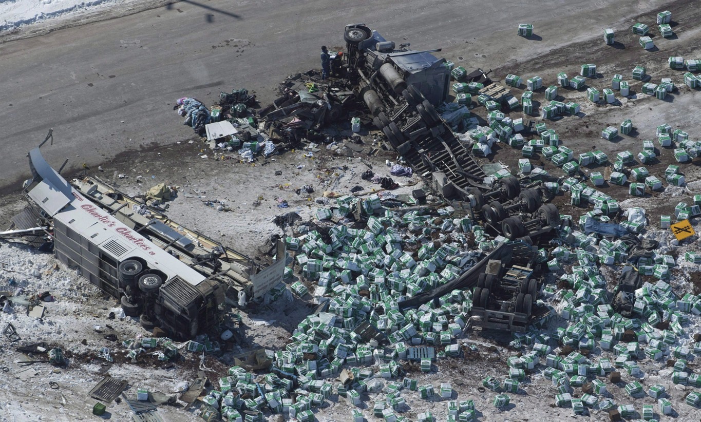 Humboldt bus crash truck driver charged