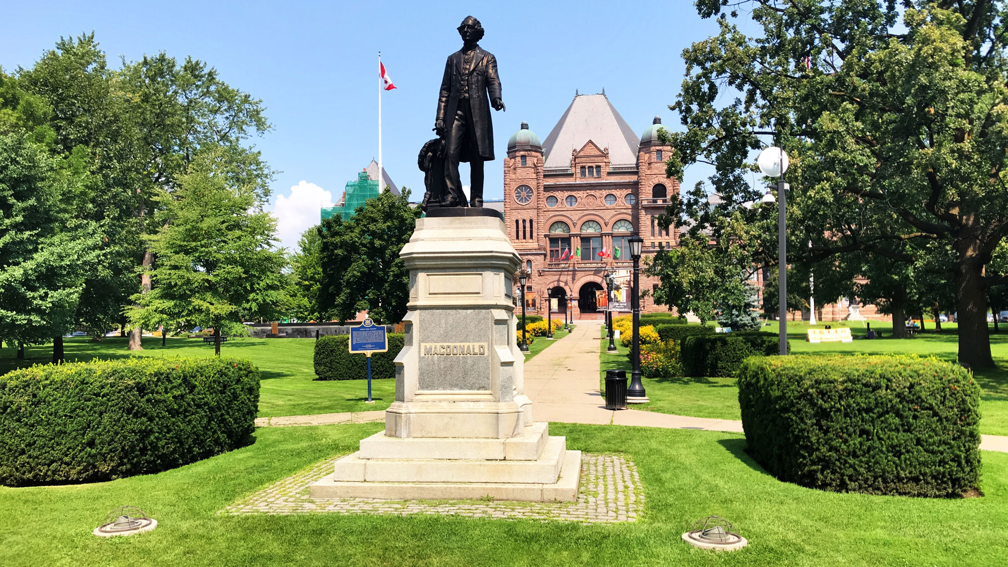 John A. MacDonald statue in Victoria Park staying put