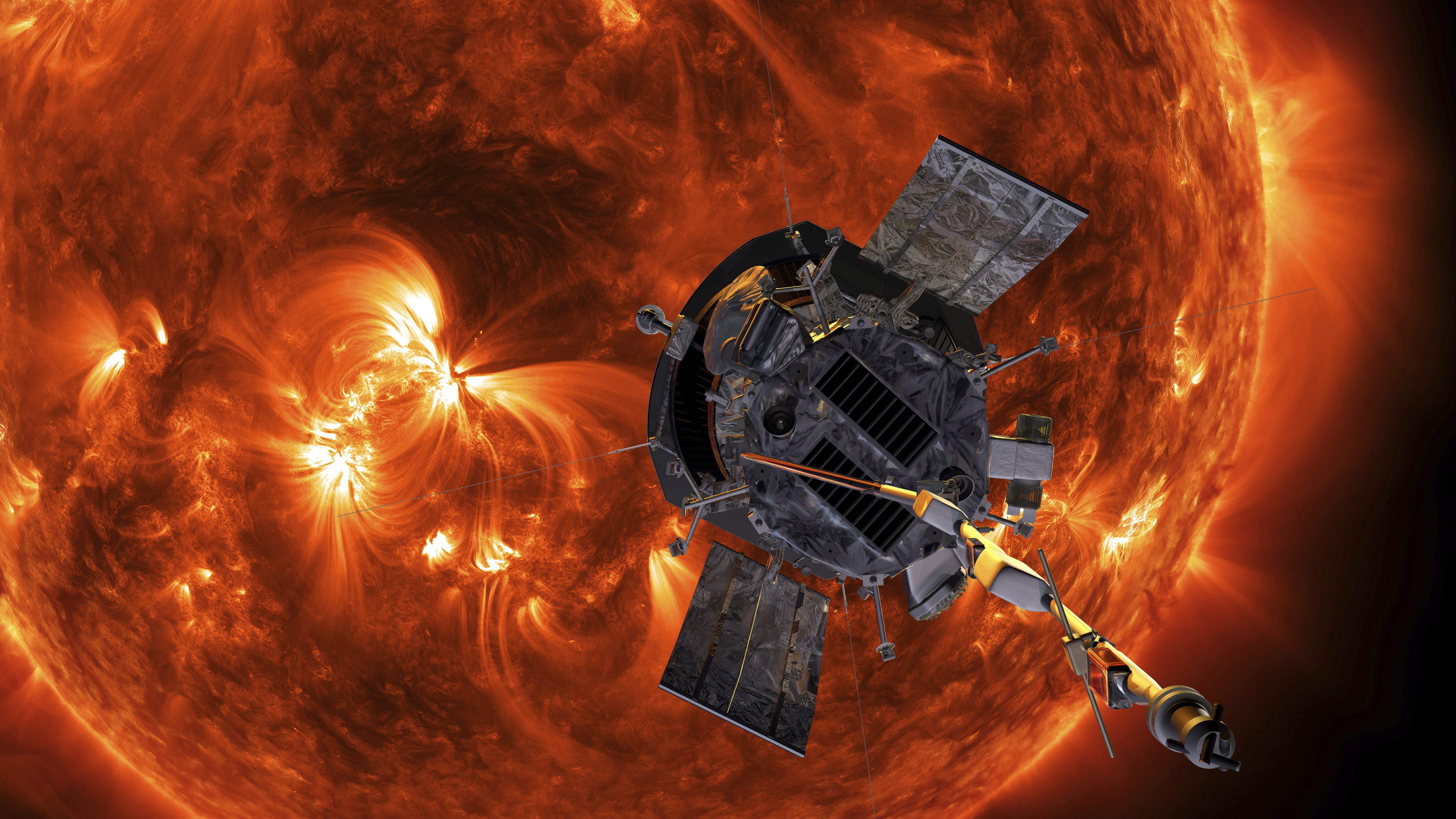NASA blasts off historic probe to 'touch the sun'