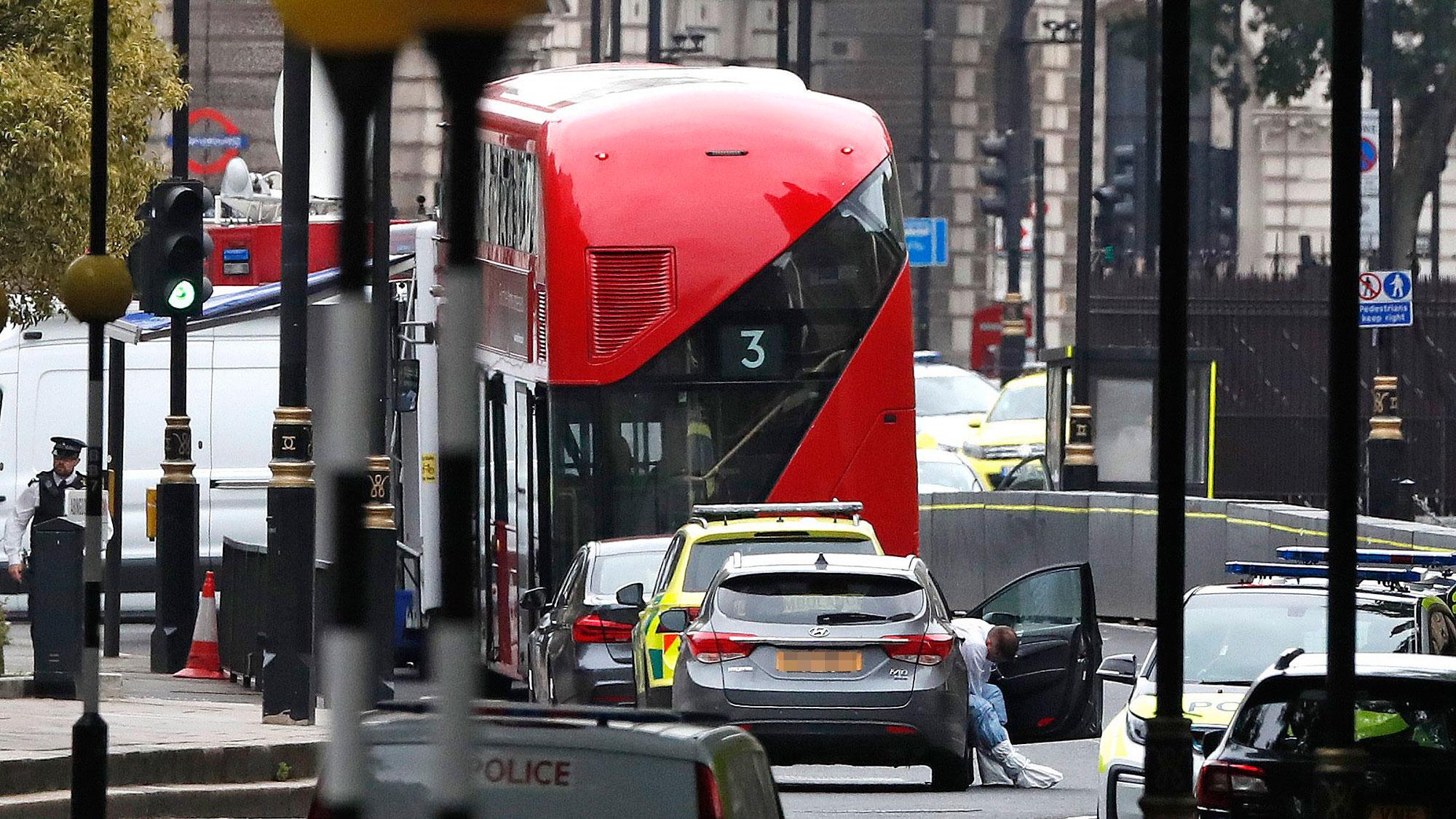 Man arrested over Westminster vehicle crash suspected of terror offences